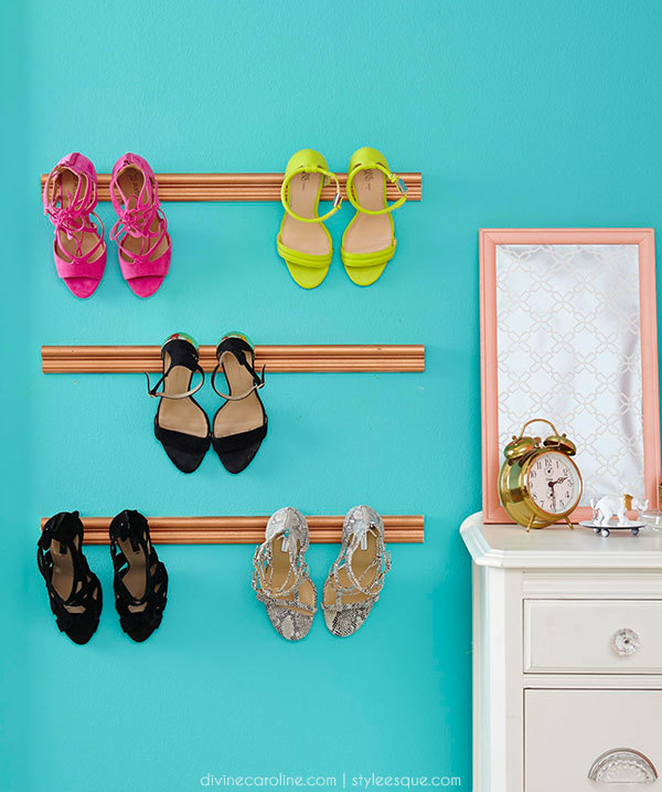 Photo: DIY shoe holder display your favorite footwear